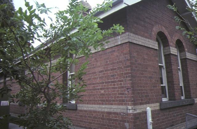 former police station complex royal parade parkville front corner detail mar1985