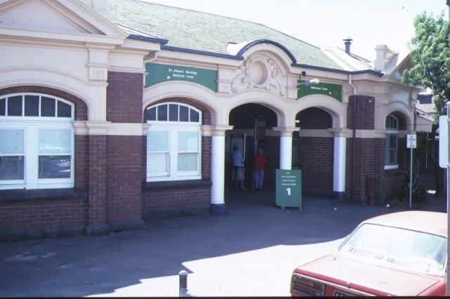 footscray railway station complex irving street footscray front view dec1985