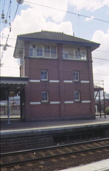 footscray railway station complex irving street footscray signal box sep1998