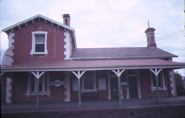 1 kangaroo flat railway station complex front elevation jul1984