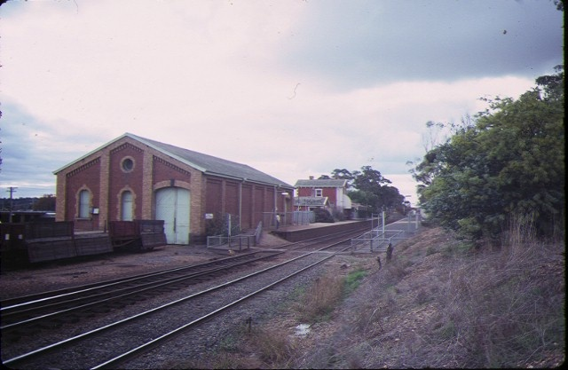 kangaroo flat railway station complex goods shed jul1984