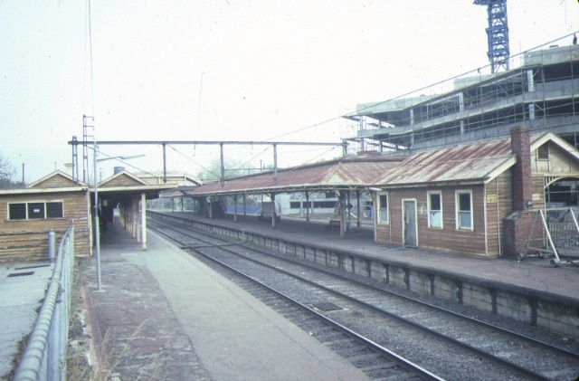hawthorn railway station end view