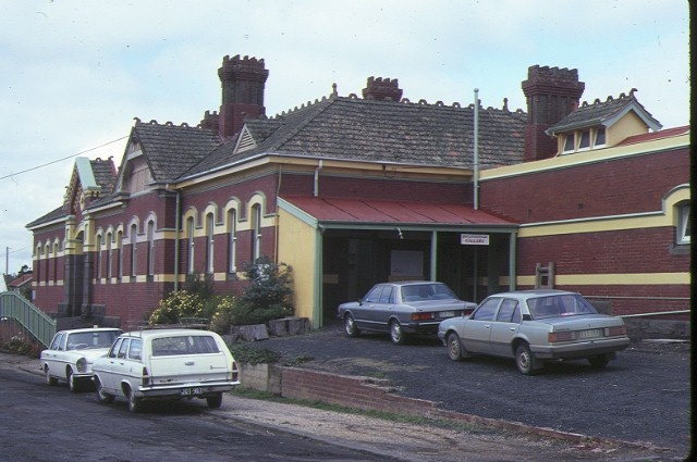 korumburra railway station complex station street korumburra front view may1984