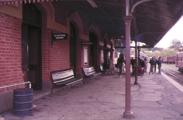 maldon railway station complex hornsby street maldon platform view