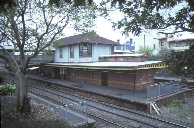 malvern railway station complex station street malvern end view sep1984