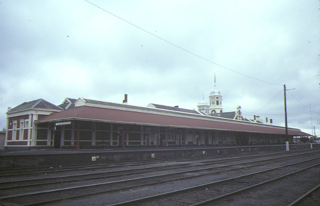 maryborough railway station rear view aug1984