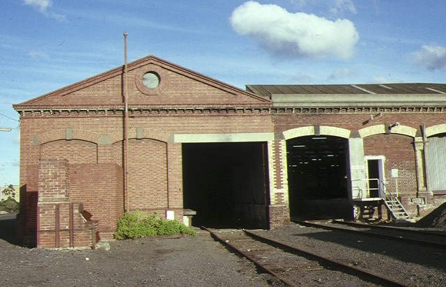 geelong railway station & goods shed geelong goods shed north facade jun1989