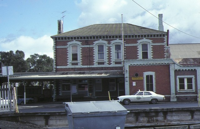 geelong railway station & goods shed geelong side view