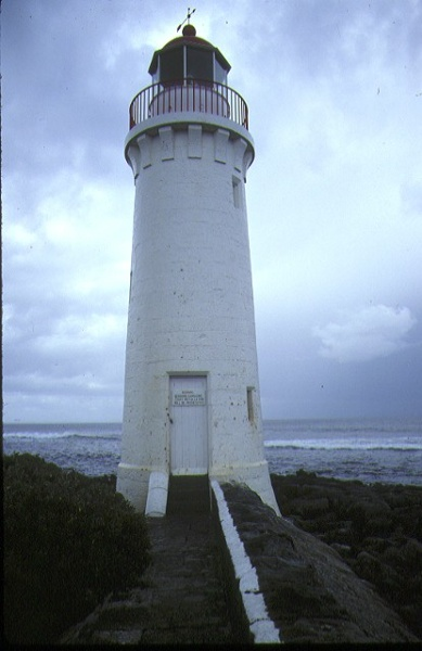 griffith island lighthouse griffith island port fairy rear view