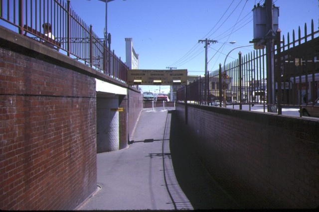 caulfield railway station normanby road caufield underpass nov1984