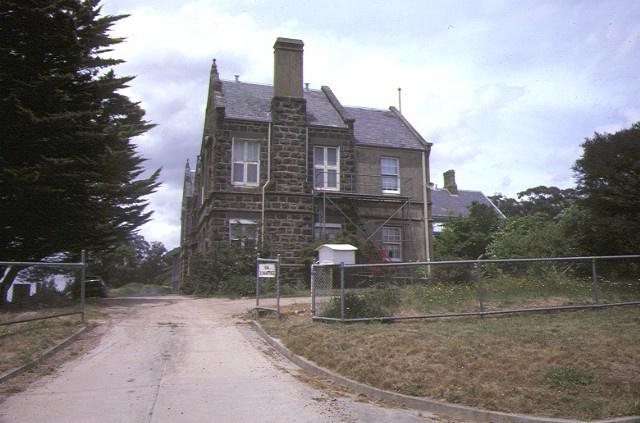 kilmore district hospital rutledge street kilmore entrance gate dec1984