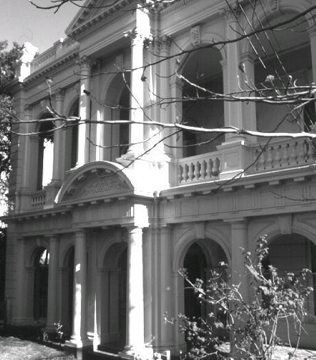 dodgshun house brunswick street fitzroy b&w front elevation