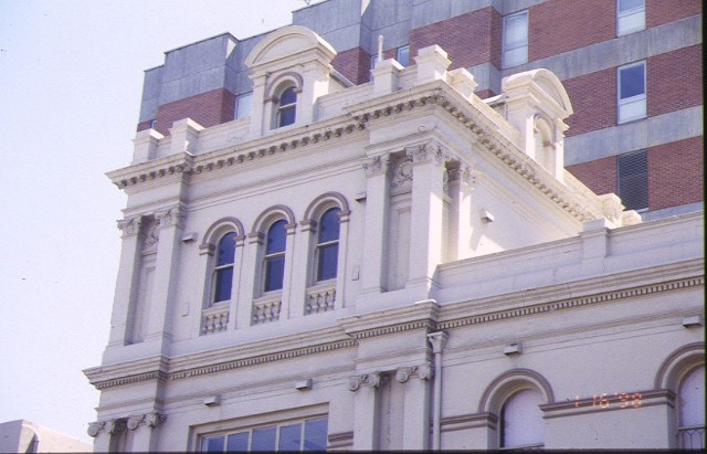 aubrey bowen wing royal victorian eye & ear hospital morrison place east melbourne facade detail jan1998