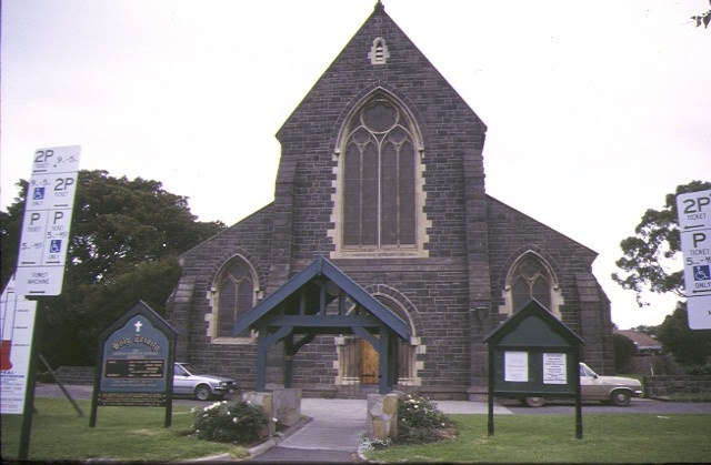 1 holy trinity church vicarage & hall nelson place williamstown church front view may1998
