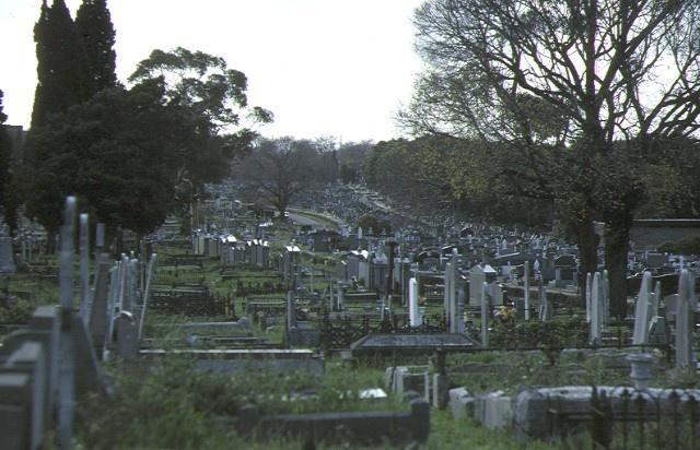 1 melbourne general cemetery college crescent carlton general view jun1986
