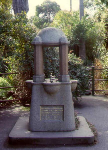 williamstown botanic gardens drinking fountain ac2 apr1999