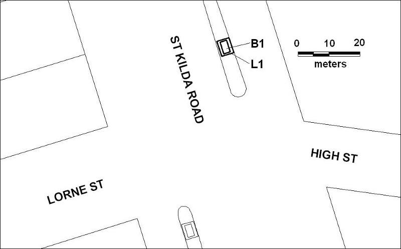 tram shelter cnr st kilda rd & high st melbourne plan