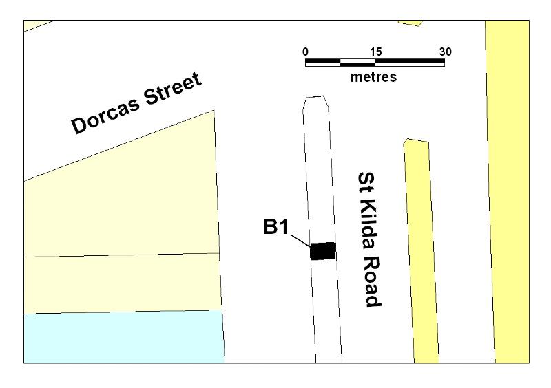 tram shelter cnr st kilda rd & dorcas st south melbourne plan