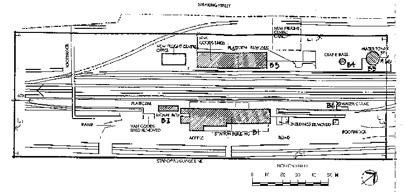wangaratta railway station plan