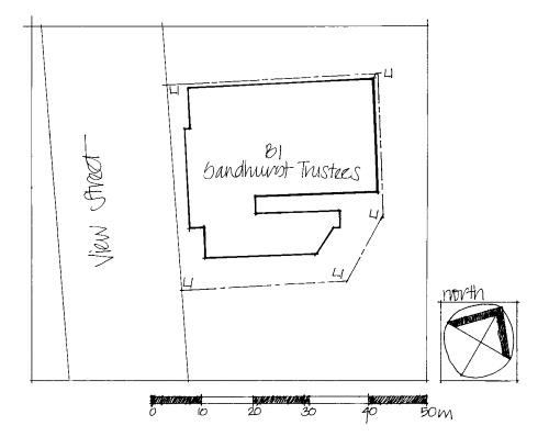 sandhurst trustees former post & telegraph office bendigo plan
