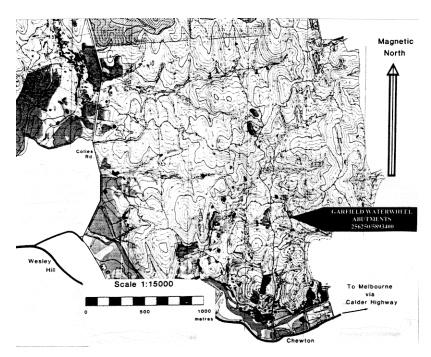 garfield waterwheel quartz gold mining site plan