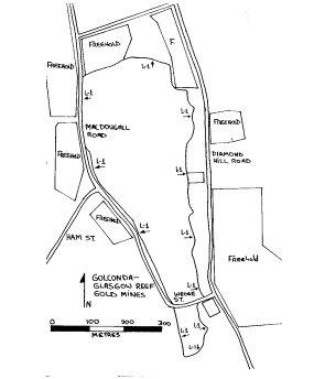 golconda glasgow reef golden gully battery plan