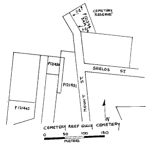 cemetery reef gully cemetery plan