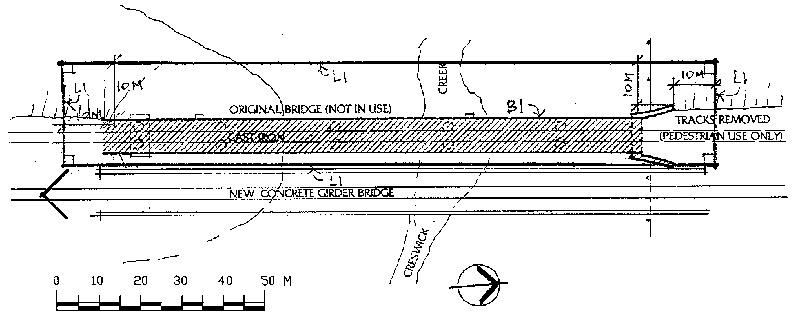 rail bridge at creswick plan