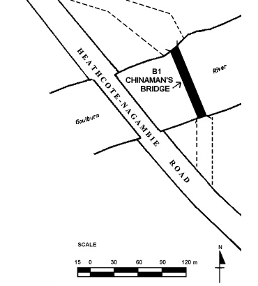 chinamans bridge over goulbourn river nagambie plan