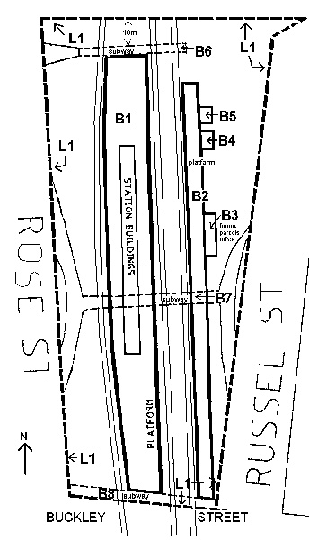 essendon railway station complex map