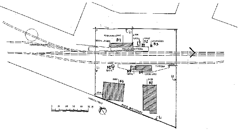casterton railway station plan