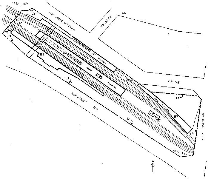 caulfield railway station complex plan