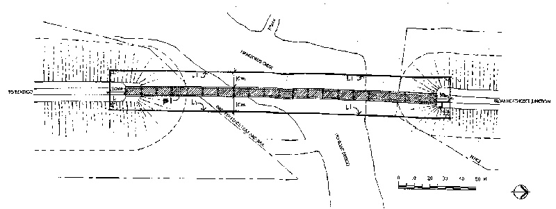 rail bridge at hansford creek pyalong plan