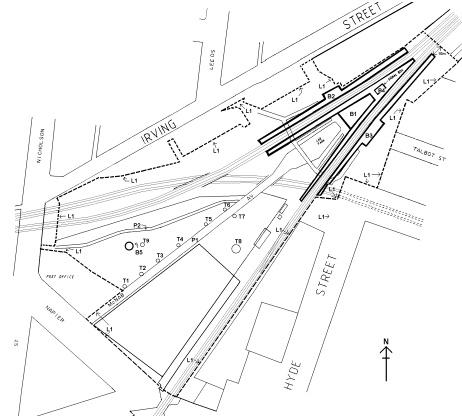 footscray railway station complex plan