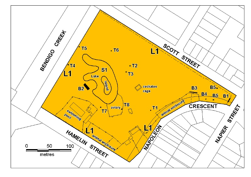 white hills botanic gardens plan