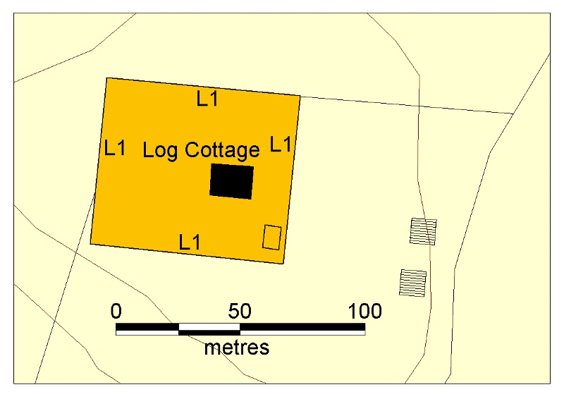 H01987 log cottage poowong plan 2