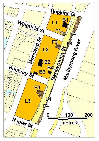 H01397 saltwater river crossing site footscray wharves precinct maribyrnong river plan