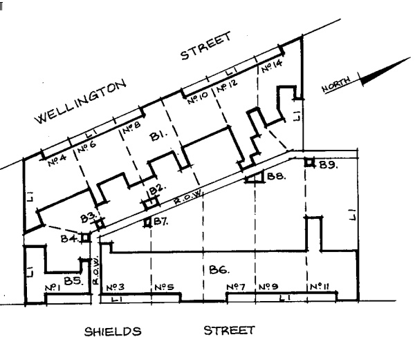 H01205 nathans terrace flemington registration plan [Note: B7 was actually demolished some years prior to inclusion in the Heritage Register and should not have been specified]
