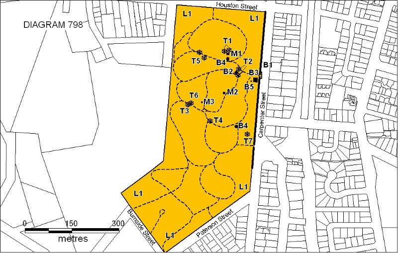 h00798 bendigo cemetery plan