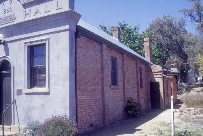 chewton town hall pyrenees highway chewton west wall she project 2003