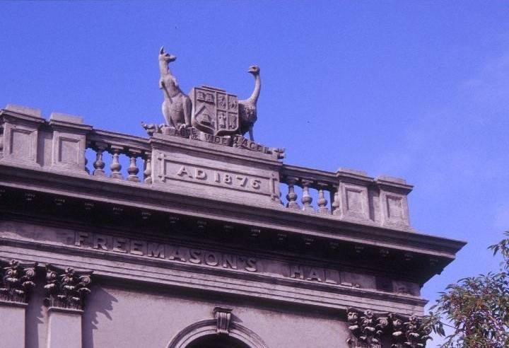 former freemasons hall south melbourne coat of arms she project 2003