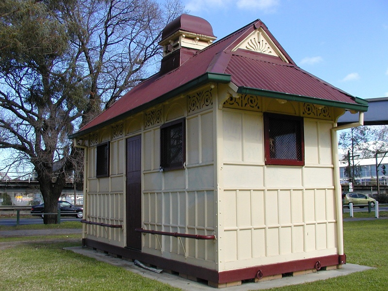 former grand rank cabman's shelter near footbridge yarra park jolimont side she project 2004