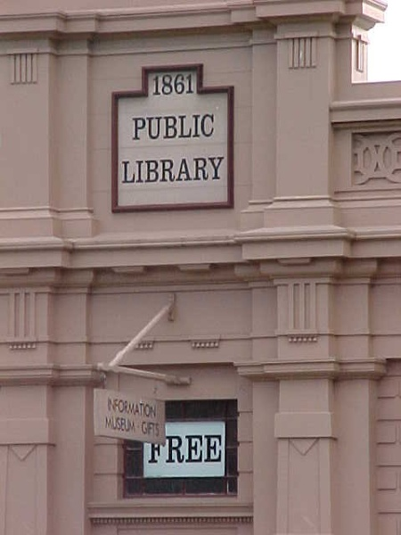 former library buninyong signage detail 2002
