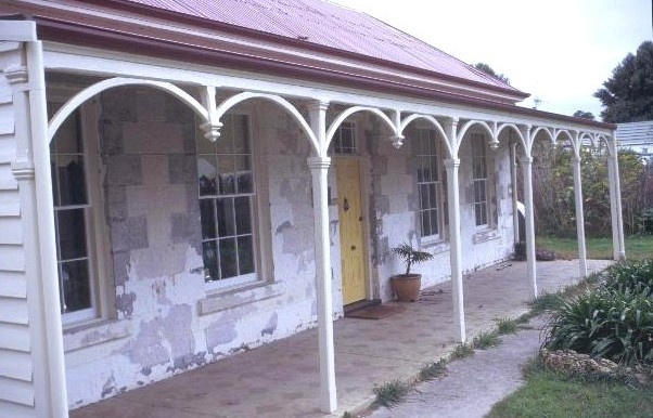 h00850 former st andrews presbyterian church and manse william st port fairy manse front verandah she project 2003