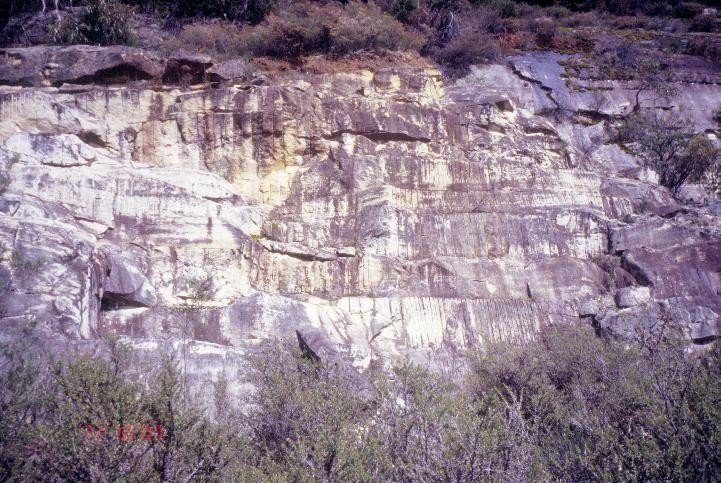 h01556 heatherlie quarry grampians national park halls gapp drilled main rock face she project 2004