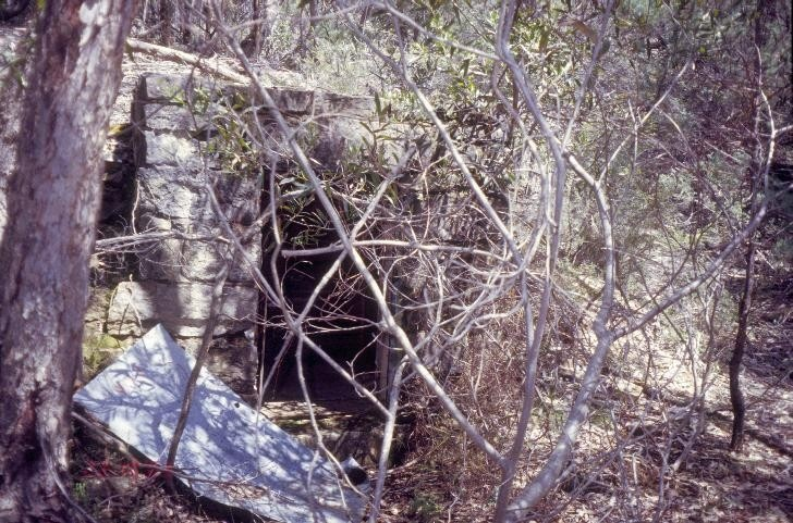 h01556 heatherlie quarry grampians national park halls gapp stone powder magazine she project 2004