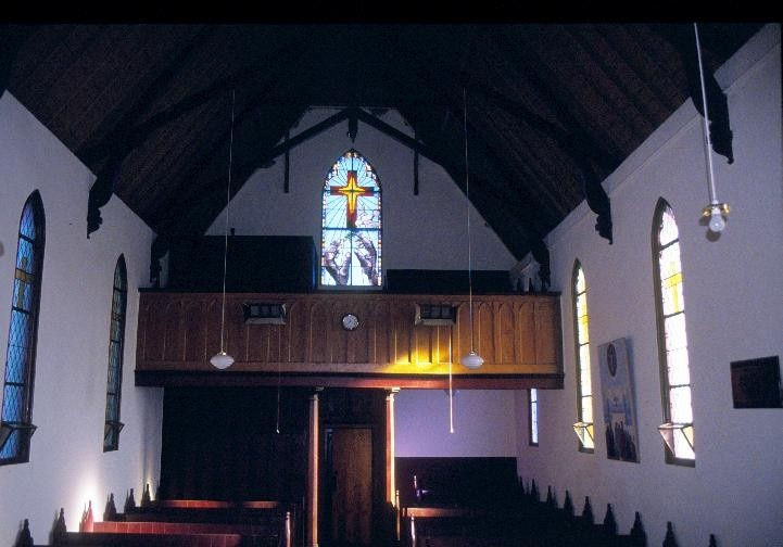h01350 holy trinity anglican church and sunday school davy street taradale inside church she project 2003