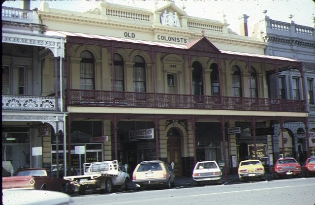 h00116 old colonists club association ballarat front view