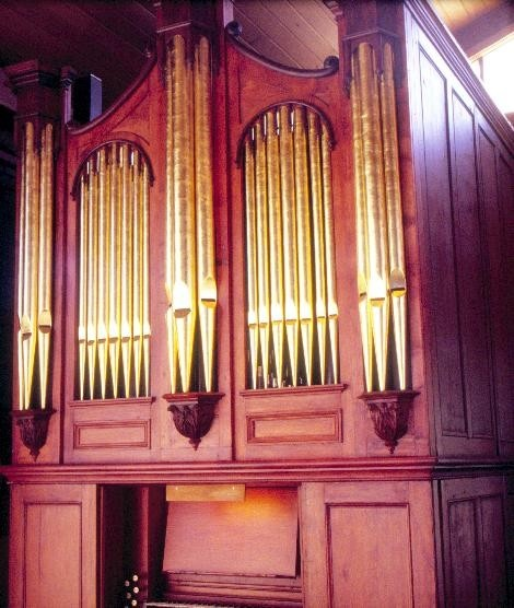 h01280 pipe organ our saviours lutheran church burwood hwy knoxfield front view she project 2003