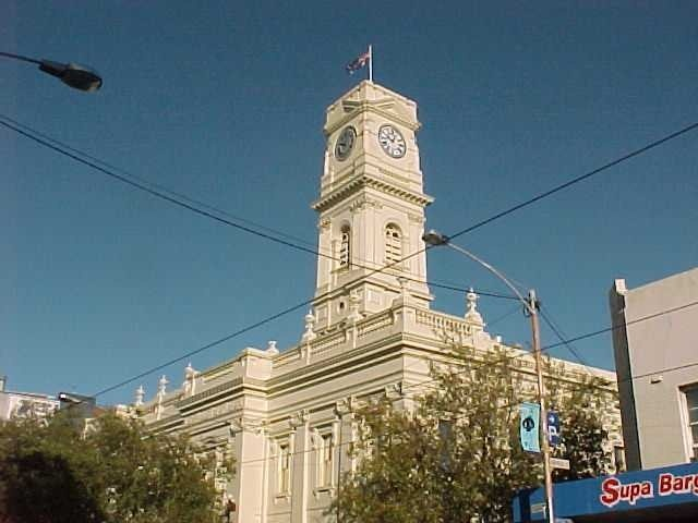 h00203 prahran town hall greville street prahran clock tower she project 2004